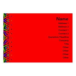 Suplente colorido del estampado de flores grande tarjetas de visita grandes