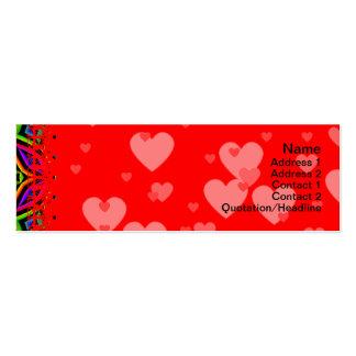 Suplente colorido del estampado de flores grande tarjetas de visita mini