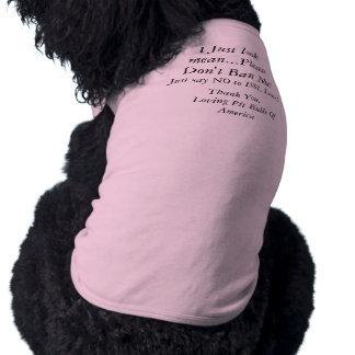 Súplica del pitbull camiseta sin mangas para perro