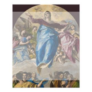 Suposición de la Virgen de El Greco Tarjetón
