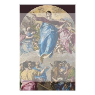 Suposición de la Virgen de El Greco Folleto 14 X 21,6 Cm