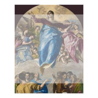 Suposición de la Virgen de El Greco Folleto 21,6 X 28 Cm