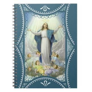 Suposición de los ángeles bendecidos del Virgen Cuaderno
