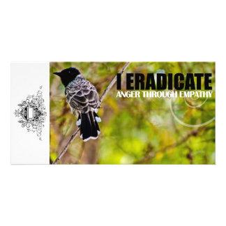 Suprima la tarjeta de encargo de la foto de la tarjeta fotografica personalizada