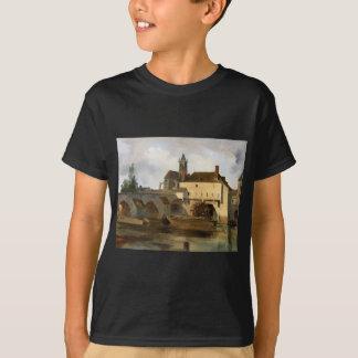 Sur Loing de Moret, el puente y la iglesia Camiseta