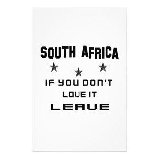 Suráfrica si usted no la ama, se va papelería