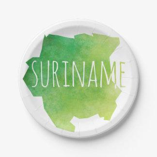 Suriname Plato De Papel