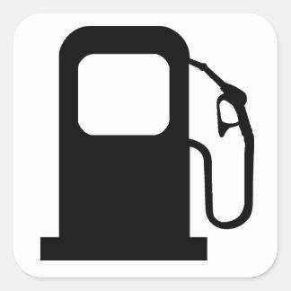 Surtidor de gasolina pegatina cuadrada