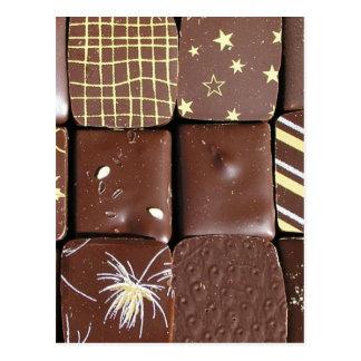 Surtidos del chocolate postal