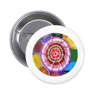 Surya Chakra - energía de la fuente de Sun Chapa Redonda De 5 Cm