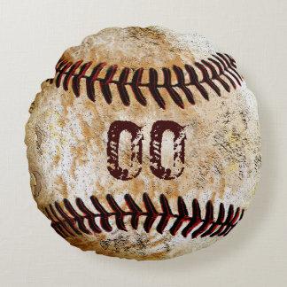 Sus almohadas redondas del béisbol del vintage del