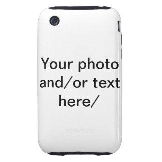 Sus casos del iphone de la foto y del texto iPhone 3 tough cobertura