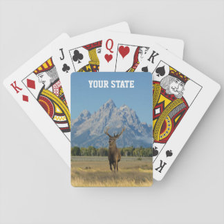 Sus ciervos del dólar del estado baraja de cartas