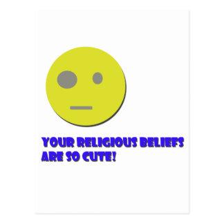 Sus creencias religiosas tarjeta postal