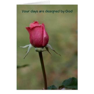 Sus días son dios tarjeta de felicitación