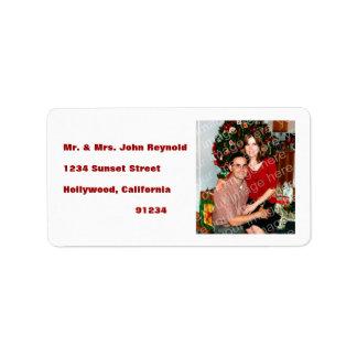 Sus etiquetas del remite de la foto etiquetas de dirección