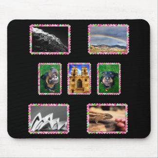 Sus fotos en marcos florales alfombrilla de ratón
