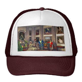 Sus fotos en una galería de arte histórica gorras de camionero