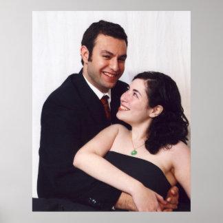Sus imágenes del boda en lona póster