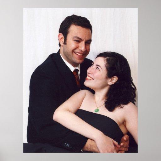 Sus imágenes del boda en lona posters