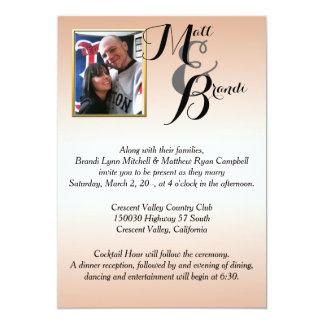 Sus invitaciones del boda de la foto invitación 12,7 x 17,8 cm