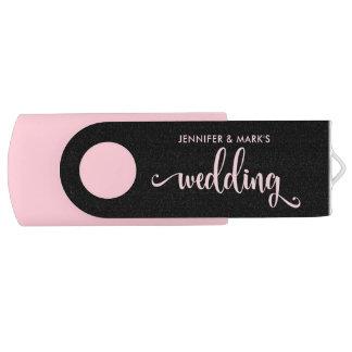 Sus memorias del boda el | rosado y negro