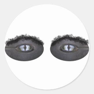 Sus ojos son como piscinas… etiquetas redondas