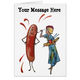 Sus palabras con la mujer de la pintura del tarjeta