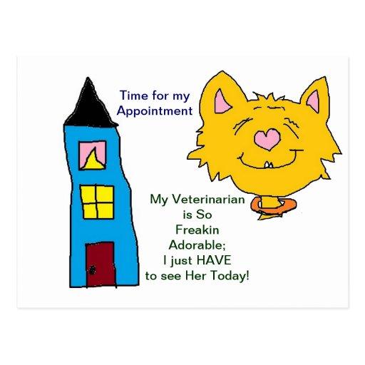 Sus tarjetas de la cita del veterinario tarjetas postales