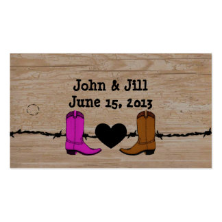Sus y sus botas de vaquero que casan la etiqueta c tarjetas de negocios