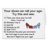 Sus zapatos pueden decir su tarjeta de cumpleaños