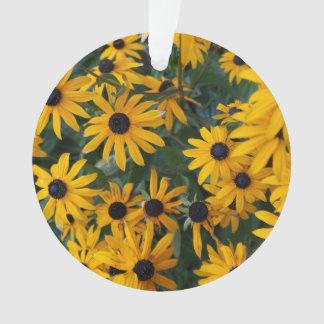 Susan Negro-observada florece el ornamento