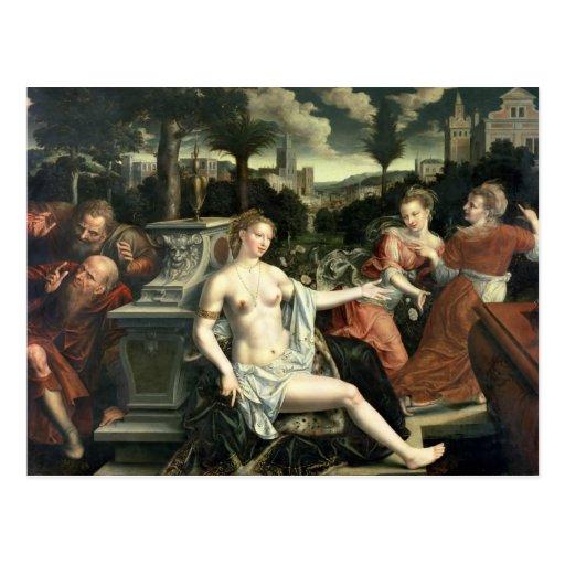 Susana y las ancianos, 1567 tarjeta postal
