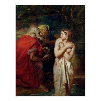 Susana y las ancianos, 1856 tarjeta postal