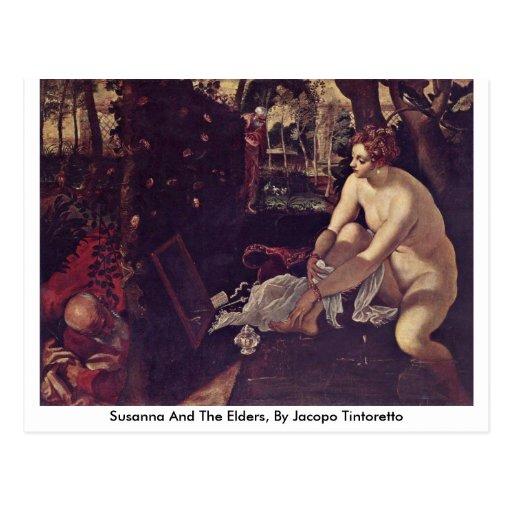 Susana y las ancianos, por Jacopo Tintoretto Tarjetas Postales