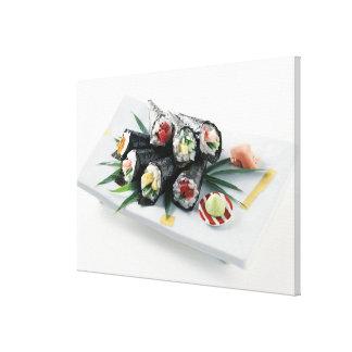 Sushi delicioso impresión en lona