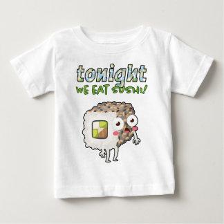Sushi Rolls: Comemos esta noche el sushi - cita Camiseta De Bebé