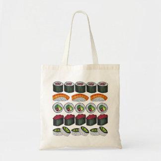 Sushi Rolls Maki + La bolsa de asas japonesa de la