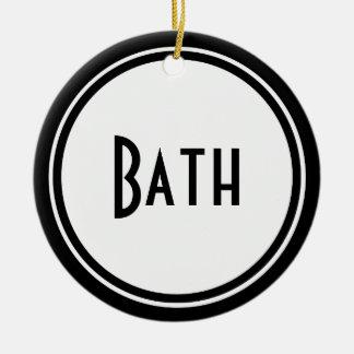 Suspensión de puerta del cuarto de baño del art ornato
