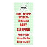 Suspensiones de puerta chistosas del bebé el dormi lonas publicitarias