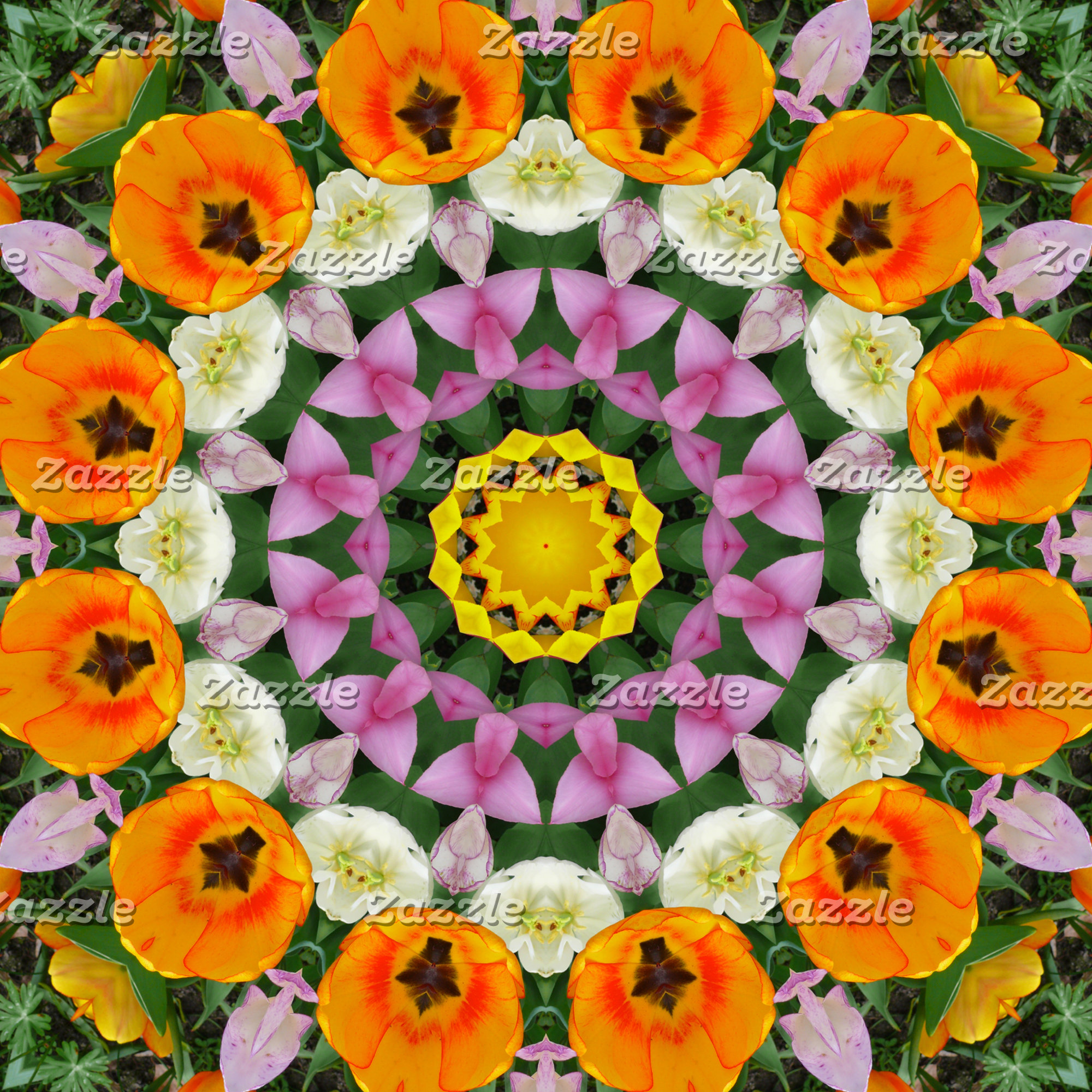 _ Tulips, Nature-Mandalas