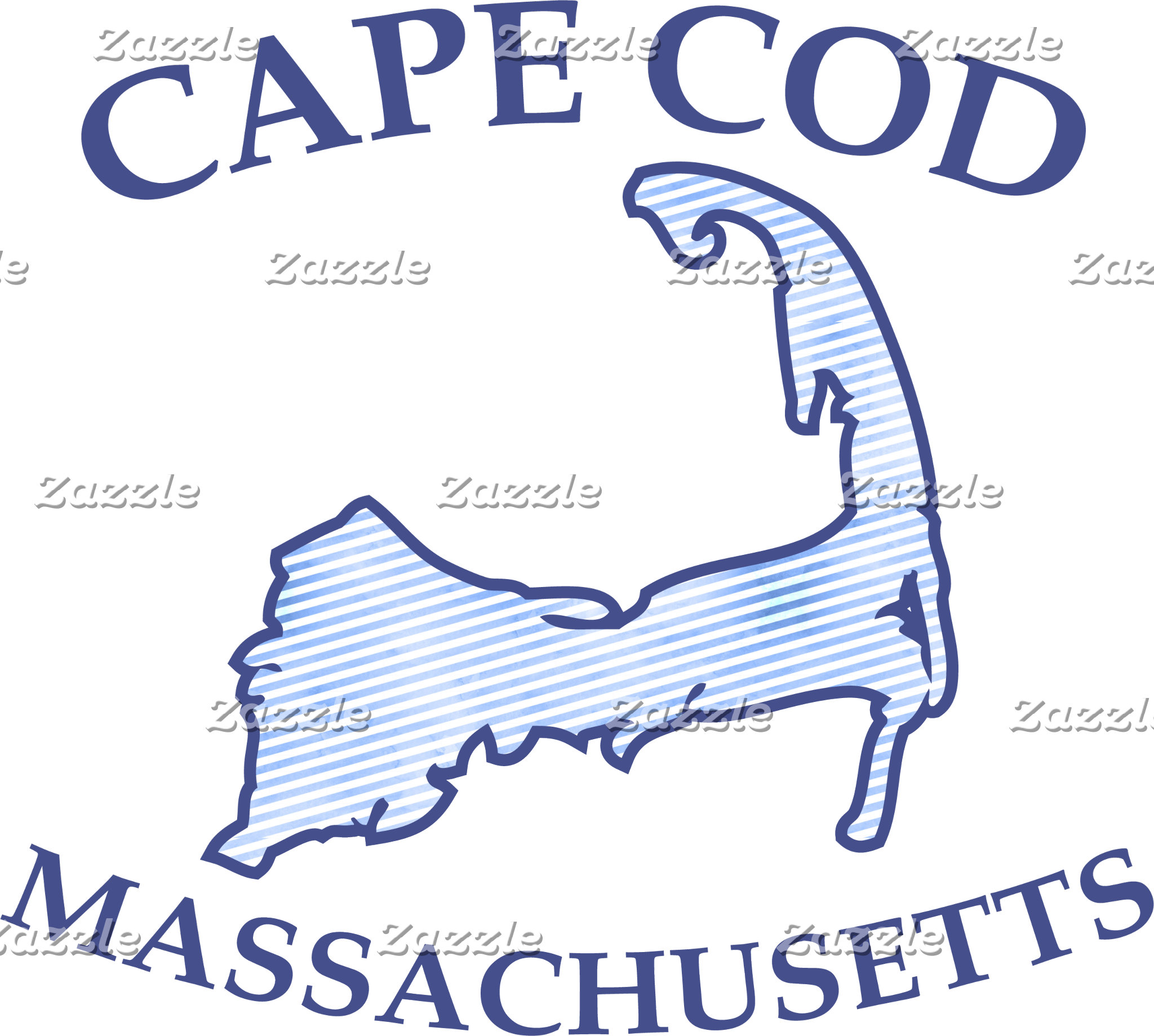 Preppy Vintage Blue Cape Cod