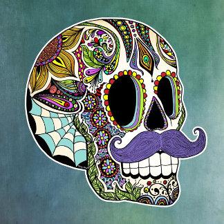 Mustache Sugar Skull