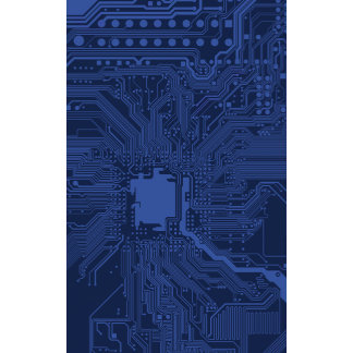Blue Motherboard Pattern
