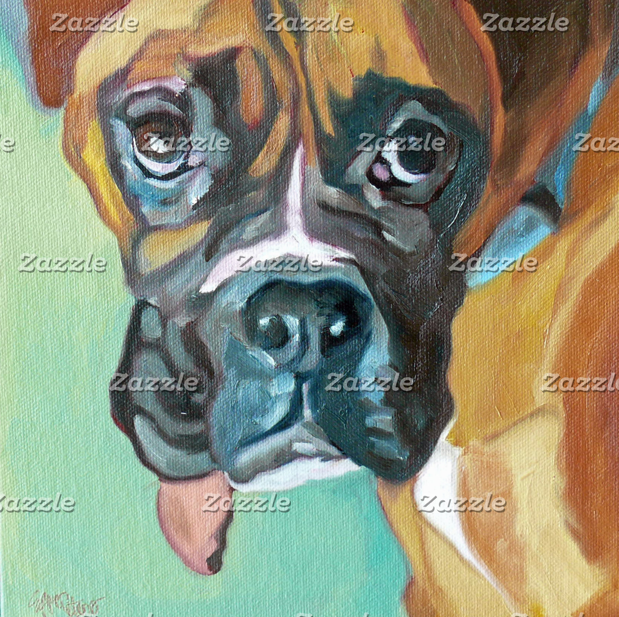 Boxer Dog Art
