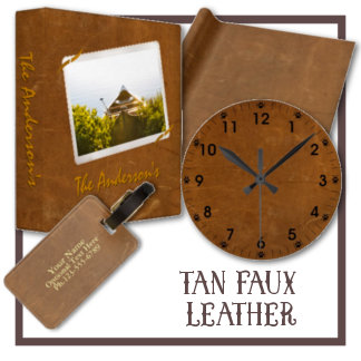 Tan Faux Leather