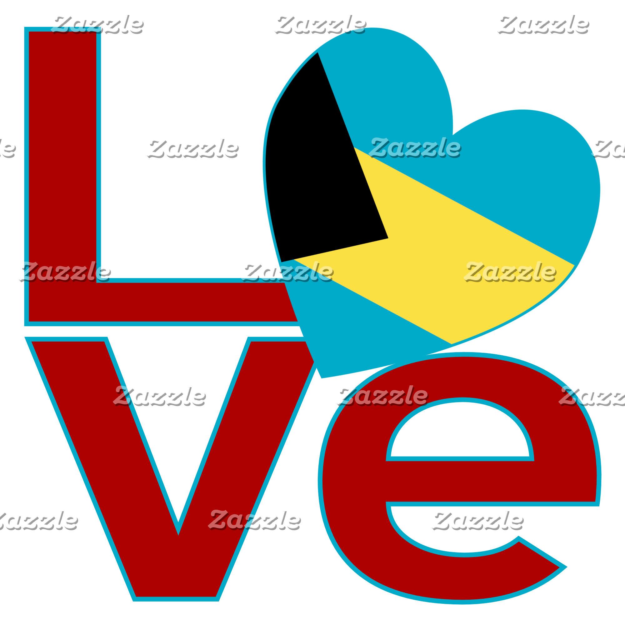 Bahaman Red LOVE Flag