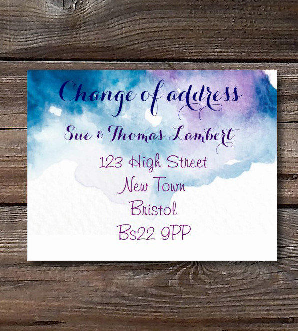 House Warming Party / Change of address