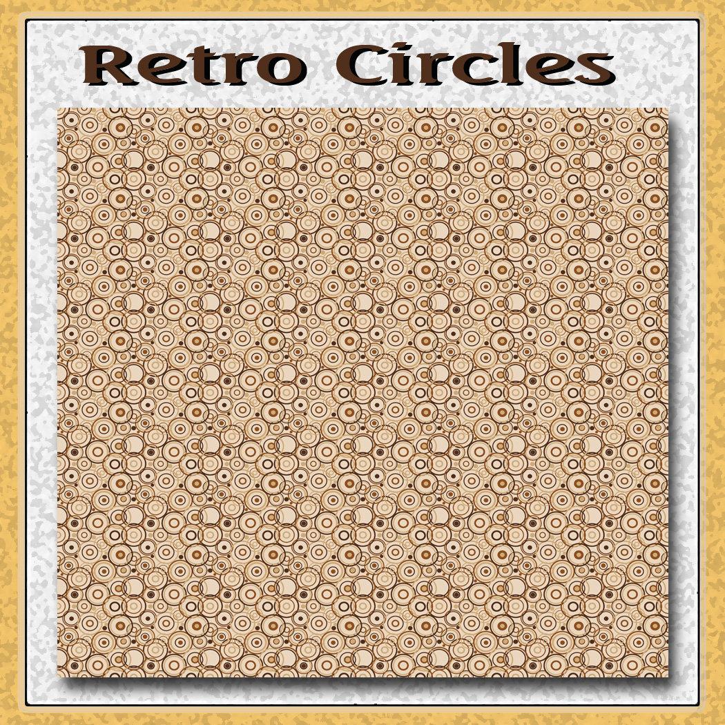 Brown Retro Circles Pattern
