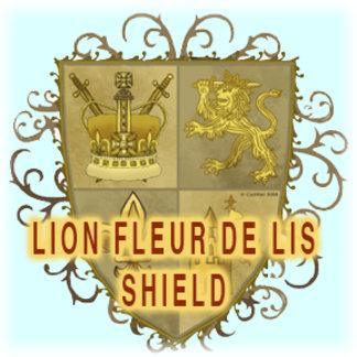 Lion Fleur De Lis Shield